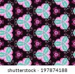 mottled pink ornament pattern... | Shutterstock .eps vector #197874188