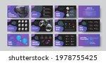 presentation slides with purple ... | Shutterstock .eps vector #1978755425
