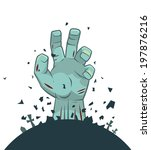 vector zombie hand rising from... | Shutterstock .eps vector #197876216