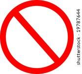 no not allowed sign | Shutterstock . vector #19787644