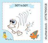 dot to dot game. sea fish.... | Shutterstock .eps vector #1978790018