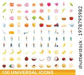 100 universal icons set.... | Shutterstock .eps vector #1978795982