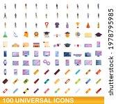 100 universal icons set.... | Shutterstock .eps vector #1978795985