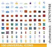 100 universal icons set.... | Shutterstock .eps vector #1978795988