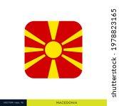 macedonia flag vector stock... | Shutterstock .eps vector #1978823165