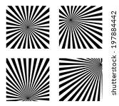 sunburst pattern.  | Shutterstock .eps vector #197884442