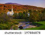 fall foliage and the stowe... | Shutterstock . vector #197886878