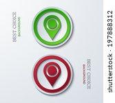 vector modern circle icons on...