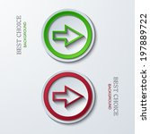 vector modern circle icons on...