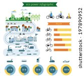 ecology city info graphic... | Shutterstock .eps vector #197890952