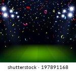 soccer stadium celebration with ...