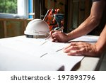 construction worker looking at... | Shutterstock . vector #197893796