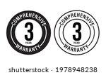full warranty abstract. 3 year... | Shutterstock .eps vector #1978948238