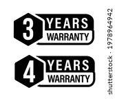 3 year warranty  4 year... | Shutterstock .eps vector #1978964942