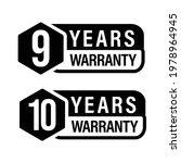 9 year warranty  10 year... | Shutterstock .eps vector #1978964945