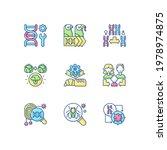 genetics rgb color icons set.... | Shutterstock .eps vector #1978974875