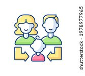 heredity rgb color icon. human... | Shutterstock .eps vector #1978977965