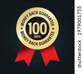 golden elegant badge. 100 days...   Shutterstock .eps vector #1979001755
