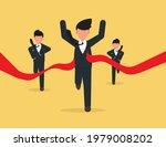 business man crossing finishing ... | Shutterstock .eps vector #1979008202