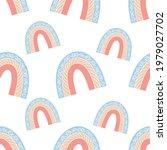 a boho rainbow. for fabrics ...   Shutterstock .eps vector #1979027702