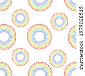 rainbow circles pattern for...   Shutterstock .eps vector #1979028515