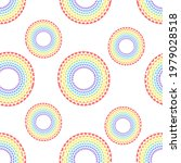 rainbow circles pattern for...   Shutterstock . vector #1979028518