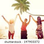 cheerful young women... | Shutterstock . vector #197903372
