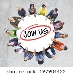group of diverse people in a... | Shutterstock . vector #197904422