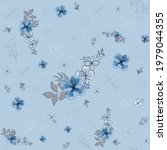 seamless pattern with floral... | Shutterstock .eps vector #1979044355