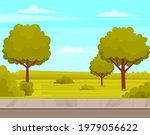 street with plants and asphalt... | Shutterstock .eps vector #1979056622