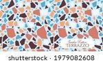 terrazzo broken tile floor...   Shutterstock .eps vector #1979082608