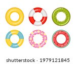 set of rubber inflatable... | Shutterstock .eps vector #1979121845