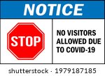 no visitors allowed due to... | Shutterstock .eps vector #1979187185