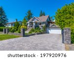 big custom made luxury house... | Shutterstock . vector #197920976