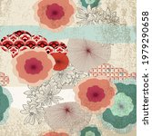 vintage pattern with oriental...   Shutterstock .eps vector #1979290658