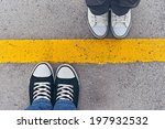 top view of sneakers from above ... | Shutterstock . vector #197932532