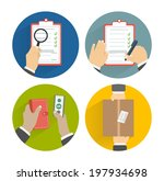 business concept delivery. set...   Shutterstock . vector #197934698