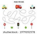maze game for kids. help... | Shutterstock .eps vector #1979352578