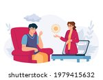 online psychology help. virtual ... | Shutterstock .eps vector #1979415632