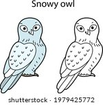 funny cute bird snowy owl... | Shutterstock .eps vector #1979425772