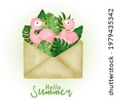 tropical summer card with... | Shutterstock .eps vector #1979435342
