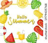 tropical summer sale banner  in ... | Shutterstock .eps vector #1979435768