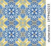 seamless patchwork tile  yellow ...   Shutterstock .eps vector #1979463215