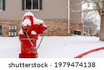 Pano Bright Red Fire Hydrant On ...