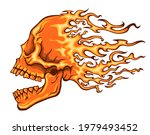 burning skull with open mouth... | Shutterstock .eps vector #1979493452