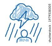 rainy cloud man sketch icon... | Shutterstock .eps vector #1979538305