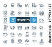 automotive icons pack. thin... | Shutterstock .eps vector #1979566415
