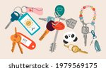 set of various keys with...   Shutterstock .eps vector #1979569175