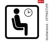 waiting room sign. vector... | Shutterstock .eps vector #1979627195