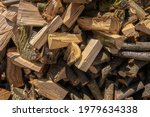 Stack Of Rough Chopped Firewood
